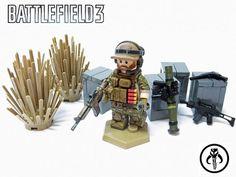 Lego modern combat desert unit. From Battlefield.