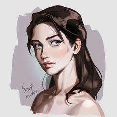 by Foo Midori Character Design Inspiration, Digital Portrait, Digital Drawing, Character Design, Character Art, Character Portraits, Fantasy Art, Art Girl, Portrait Painting