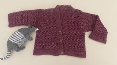 SALE - Lacy knit cardigan fit 2 to 3 years, vintage pattern.  Hand knit, soft wool mix with silver thread. by MakerMouse on Etsy
