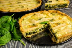 Tarta ze szpinakiem (160 kcal) Spanakopita, Antipasto, Savoury Cake, Apple Pie, Quiche, Appetizers, Dishes, Meat, Cooking