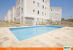 Paisagismo do Festeggiare. Condomínio fechado de apartamentos localizado em Franca / SP.