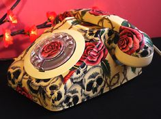 Unique Hand Crafted Skulls & Roses Decoupage by lovekittypink, £190.00