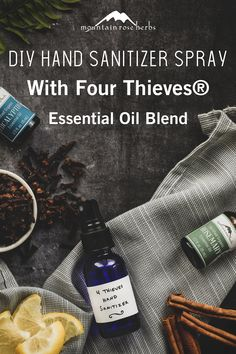 Thieves Essential Oil, Essential Oils Guide, Lemon Essential Oils, Young Living Essential Oils, Essential Oil Blends, Mountain Rose Herbs, Essential Oils For Headaches, Hand Sanitizer, Body Care