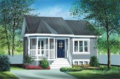 Main image for house plan # 12674 -- a little bigger than a tiny house, but I really like the layout.
