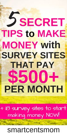 These survey sites are so easy and free to use to start earning money online! I love the extra tips for earning more with online surveys! survey sites l make extra money l work from home jobs l make money at home l passive income l side hustl Online Survey Sites, Online Surveys For Money, Earn Money Online Fast, Survey Sites That Pay, Earning Money, Earn Money From Home, Online Jobs, Paid Surveys, Survey Websites