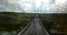 Title: Road of hope Medium: Mixed technique Watercolor/Acrylic on prime paper. Size: 16.5 x 11.7 inches by Virginia Katsini  Scotland