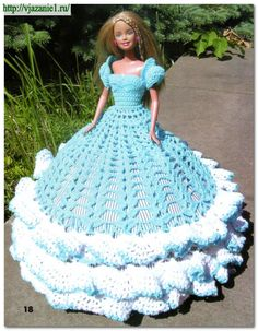 Платье крючком для Барби | О вязании