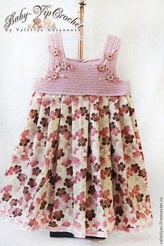 Kumaşla Örgü Kız Çocuk Elbise Modelleri ve Yapılışı 98 - Mimuu.com