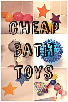 Dont waste money on bath toys for baby!  Cheap Bath Toys, DIY bath toys | eat drink and save money blog
