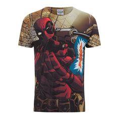 Marvel Men's Deadpool Bang T Shirt White