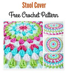 Stool Cover Free Crochet Pattern