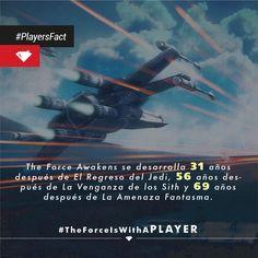 StarWars: The Force Awakens. Algunos datos sobre cuándo se desarrolla esta película.   #Facts #PLAYERSoflife #StarWars
