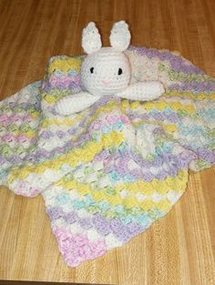 Check out this item in my Etsy shop https://www.etsy.com/listing/500110168/bunny-lovey-security-blanket