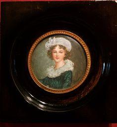 Antique Portrait Miniature Of Madame Vigée-Lebrun