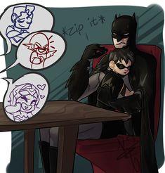 Batman: If you wake him up, I will break all of your faces. Superman X Batman, Batman Robin, Marvel Vs, Marvel Dc Comics, Nightwing, Casa Anime, Univers Dc, Bat Boys, Batman Universe