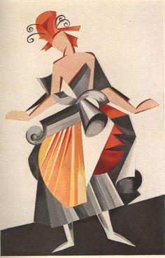 Aleksandra Ekster - Futurist Costume Design 1922