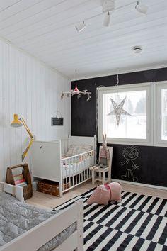 black + white + chalkboard wall