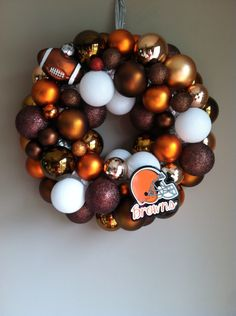 Cleveland Browns Ornament Wreath