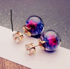 One Pair Fashion Women Lady Elegant Flower Rhinestone Glass Ear Stud Earrings    eBay