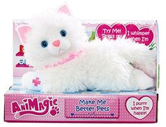 Animagic Make Me Better Pets Kitten Give this soft n cuddly kitty the purrfect treatment and make her feel all better! Shes in need of all your attention to nurse her back to health and will whimper when (Barcode EAN = 5025123309835) http://www.comparestoreprices.co.uk//animagic-make-me-better-pets-kitten.asp