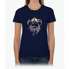 Viking T-Shirt Old Norse Scandinavian Warrior Design Art Tee Womens T-Shirt