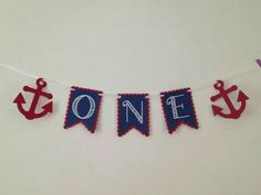 One with Anchors- High Chair Banner - Birthday Nautical Themed Banner - Customizable Colors Anchor Birthday, Sailor Birthday, 1st Birthday Themes, Boy First Birthday, Birthday Fun, First Birthday Parties, First Birthdays, Anchor Party, Sailor Party