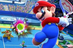 Mario and friends take the action well beyond the tennis court