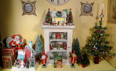 A collection of vintage Christmas decorations