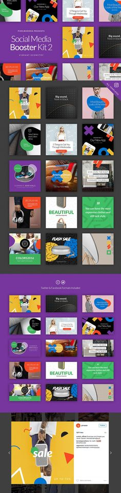 Complete Social Media Booster Bundle by PixelBuddha on @creativemarket