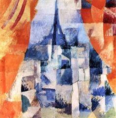 Window with Orange Curtains - Robert Delaunay - 1912 - The Athenaeum