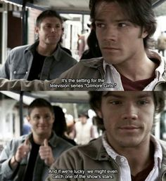 Supernatural. Hahaha it's funny bc Jared used to be on Gilmore Girls!
