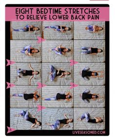 Eight Bedtime Stretches To Relieve Lower Back Pain #Health #Fitness #Musely #Tip