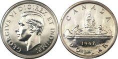 rare silver coins the 1947 Maple leaf Silver Dollar Valuable Pennies, Rare Pennies, Valuable Coins, Silver Coins For Sale, Us Silver Coins, Silver Dollar Coin, Bullion Coins, Silver Bullion, Thousand Dollar Bill