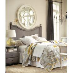 Master Bedroom: Lorraine Quilted Bedding | Ballard Designs  Paint Headboard Gray!!!