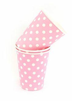 gobelets-rose-pois-blanc www.sweetpartyday.com