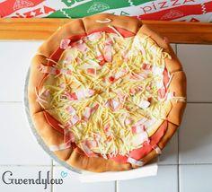 Tarta: Pizza de Bacon y queso