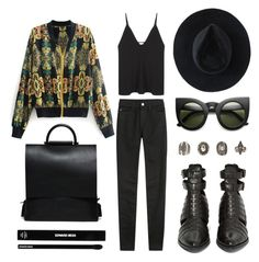 """BAROQUE PRINT BOMBER JACKET"" by eva-jez ❤ liked on Polyvore featuring AG Adriano Goldschmied, Christopher Esber, Relic, Ryan Roche, Edward Bess, bomberjacket, bomberjackets, baroqueprint and stylemoi"