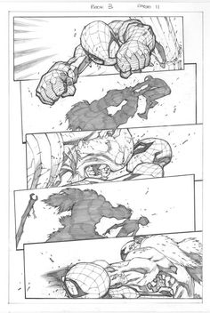 Tavola Spider-man di Joe Madureira inchiostrato da me Table Spider-Man by Joe Madureira inked by me Comic Book Layout, Comic Book Pages, Comic Book Artists, Comic Book Characters, Comic Artist, Comic Books Art, Joe Madureira, Bd Comics, Manga Comics