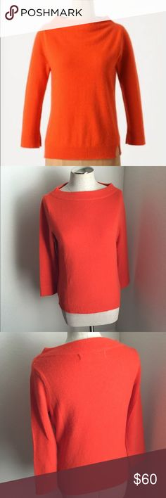 Anthropologie Cashmere Sweater Sparrow spins air light cashmere into a timelessly graceful silhouette.  3/4 sleeves Cashmere Dry clean Imported Style No. 23403603 Anthropologie Sweaters