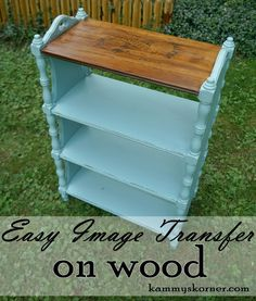 Kammy's Korner: Easy Graphic Transfer Tutorial On Wood {Moldy to Frenchy Chic Table}