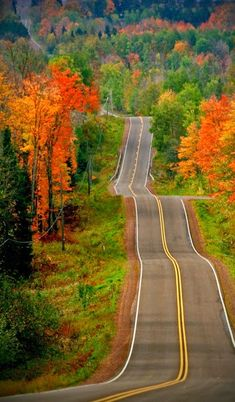 Let's take the long way home-Road Trip in the country! Beautiful Roads, Beautiful World, Beautiful Places, Beautiful Pictures, Beautiful Scenery, Wisconsin, Michigan, Illinois, Long Way Home