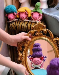 Ravelry: Pigs with Wigs pattern by Anna Hrachovec