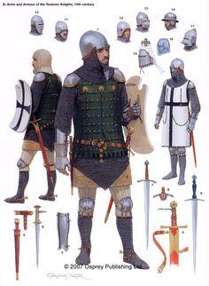Armi e armatura di un cavaliere teutonico, XV secolo