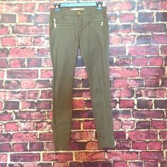 ZARA Olive Faux Leather Skinny's! Zara Olive Faux Leather Skinny Jeans! Gently Worn but Good condition  Please use the 'offers' button for all offers   Sorry, I don't trade! Zara Pants Skinny