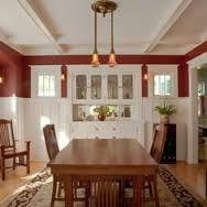 Ceiling Built In Dining Room Restored