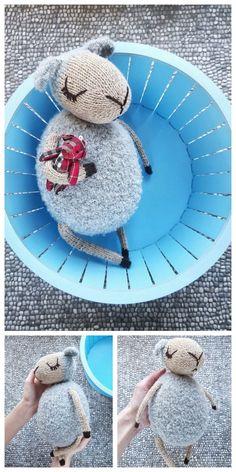 Amigurumi Sleeping Lamb Free Pattern – Free Amigurumi Patterns Crochet Animals, Crochet Toys, Free Crochet, Amigurumi Doll, Amigurumi Patterns, Crochet Patterns, Baby Chicks, Yarn Needle, Knitting Stitches