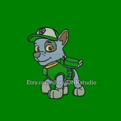 Paw Patrol Rocky Embroidery Design - 5 Sizes - INSTANT DOWNLOAD  This design manually made by hand, from start to finish. It is a digitized embroidery design for a buyer who has an embroidery sewing machine.  https://www.etsy.com/listing/497076430/paw-patrol-rocky-embroidery-design-5 #stitch #digitized #Sewing #Needlecraft #stitches #Embroidery #Applique #EmbroideryDesign #pattern #MachineEmbroidery #animal #kid #cute #dog #rocky #pawpatrol