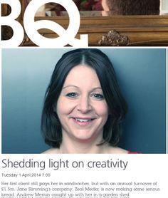 Jane sheds some light on creativity in BQ Magazine.