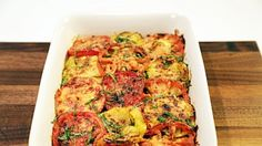 Tomato, Zucchini, Onion and Parm Bake Recipe by Daphne Oz - The Chew