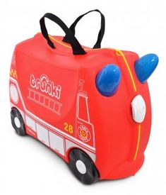 Trunki Children's Ride-On Suitcase & Hand Luggage: Frank Fire Engine (Red) Kids Luggage, Hand Luggage, Carry On Luggage, Childrens Luggage, Travel Luggage, Luggage Bags, Hello Kitty, Kids Ride On, Rouge